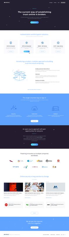 Miracle product page
