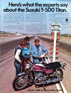 1971 Suzuki T-500 Titan Motorcycle Advertising Hot Rod Magazine April 1971 | Flickr - Photo Sharing!