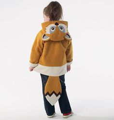 CHILDRENS/BOYS/GIRLS COATS: Lined coats have hood with seams, applique/tail variations, bands, front button closing, and sleeves with fold-back