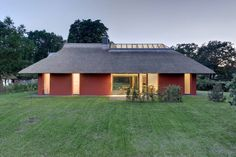 Modern Home with a Thatched Roof