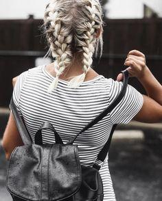 short hair french braids. pinterest: louisaramirezz