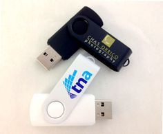 "When you're thinking about the Swivel it doesn't matter if it's black or white!  Your logo will look great either way. Did you know your logo can be branded on white or black coated steel on the ""I am Swivel"" custom USBs?  Give this option a try on your next custom flash drives order. #USB #logo #flashdrive"