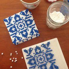 Perler bead trivets or coasters