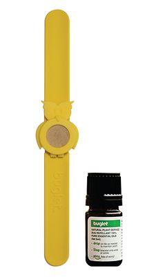 BUGLET YELLOW Hoot 'n Holler Owl (kit incl. one bottle of repellent oil) - Bug Repellent Bracelet