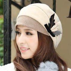 winter-hat-cap-female-autumn-and-winter-millinery-wool-elegant-fashion ...