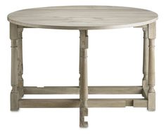 Garrison #3038 30h x 47w   Overview  The Garrison Drop Leaf Table is a perfect fit for spaces large and small. Extend one of the leaves and use the table as a server, or pull them both out to seat extra dinner guests when you have a crowd. The table has six fixed legs and two swing-out legs to support leaves.
