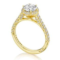 Shop online TACORI HT2547RD7Y Halo Yellow Gold Diamond Engagement Ring at Arthur's Jewelers. Free Shipping