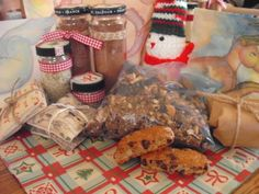 My Christmas Box 2015--re-purposed packaging, homemade goodies and original greeting cards from recycled papers and cards.