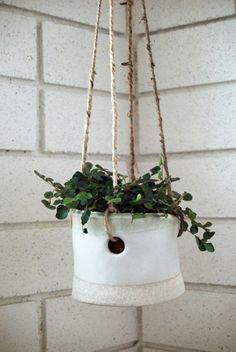 Hanging ceramic pot
