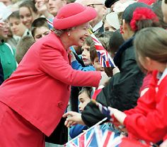 The Queen meets veterans of World War II in 1995, the 50th anniversary of the end of the war.    Image gallery