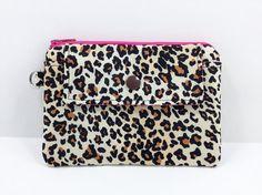 Leopard Zipper Pouch Mini Snap Wallet Coin Purse by ZestyNotion