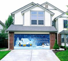 christmas garage door decoration