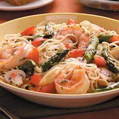 Asparagus 'n' Shrimp with Angel Hair Recipe
