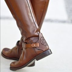 New Tory Burch Derby Riding Boot New, in box. Never worn. Tory Burch Shoes Combat & Moto Boots