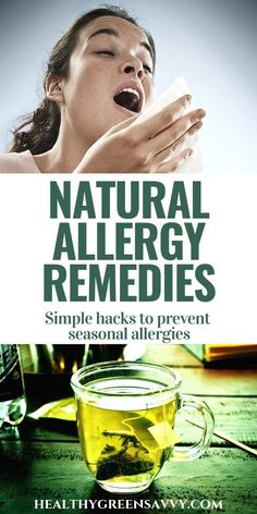 There are numerous ways to prevent and alleviate allergies without OTC or prescription medications. Try these natural allergy remedies. #seasonallergies #allergyrelief #naturalremedies #allergyprevention #homeremedies Natural Remedies For Allergies, Allergy Remedies, Natural Cough Remedies, Natural Health Remedies, Natural Cures, Herbal Remedies, Home Remedy For Cough, Cold Home Remedies, Chesty Cough
