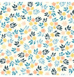 Flower pattern vector by Ermine on VectorStock®