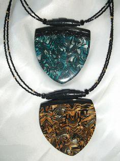 Polymer pendants made by Lori Von der Puetten