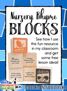 Nursery Rhyme Blocks from Uncle Goose - Make Moments Matter Music Lessons, Guitar Lessons, Teaching Music, Kindergarten Music, Teaching Tools, Teaching Ideas, Music Classroom, Classroom Ideas, Music Teachers