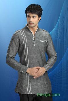 Męska koszula etniczna z lnu indyjska L, XL, XXXL