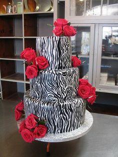 Uniqueness Zebra Wedding Cakes for extraordinary wedding 3 Pretty Cakes, Beautiful Cakes, Amazing Cakes, Zebra Wedding, Tattoo Cake, Fondant, Rockabilly Wedding, Just Cakes, Occasion Cakes