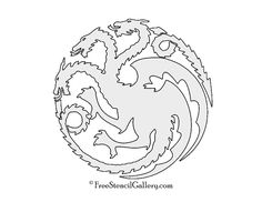 Game of Thrones - House Targaryen Sigil Stencil - Not sure if I can pull this off but I'll try