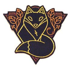 Spirit Animal - Fox from Rad Stuff Embroidery Patches, Embroidered Patch, Merit Badge, Pin And Patches, Spirit Animal, Lapel Pins, Sewing Projects, Buy And Sell, Animal 2