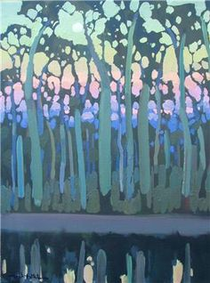 Michael White Australian Artists, Landscape Art, Art Lessons, Abstract Trees, Victorian, Watercolor, Artworks, Art Ideas, Pattern