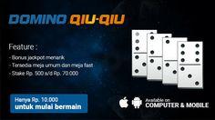 Motobolapoker sebagai Agen Judi Online yang menyediakan Permainan Domino Online Di Android juga menyediakan minimal deposit 10rb untuk mulai bermain