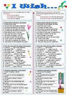 I wish... worksheet - Free ESL printable worksheets made by teachers