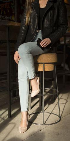 Jules & Jenn - Les escarpins cuir rose métallisé #fashion #mode #women #heels #highheels #shoes #leather • www.julesjenn.com