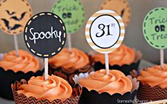 Free Halloween Party Printables by poofycheeks.com (these would be cute tags or front of pillow boxes)