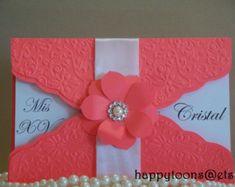 Quinceañera, Sweet sixteen invitation. Babyshower, wedding, birthday,card