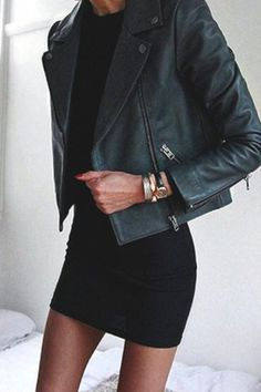 Black PU Leather Lapel Long Sleeve Jacket #zaful #style #jacket