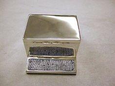 OnlineGalleries.com - Antique Silver Table Matchbox