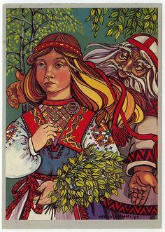 "From Kalevala epic ""Väinämöinen ja Aino"". Immigrant Song, Inspiration Art, Scandinavian Folk Art, Norway, Fairy Tales, Artwork, Artist, Pictures, Painting"