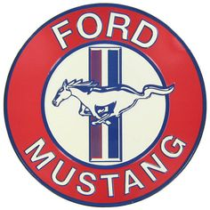 """This Classic Mustang Tin Sign is perfect to enhance the decor of any car enthusiast's or travel themed home, office or man cave. It measures about 12 1/2"""" wide x 16"""" tall and hangs from holes punched"""