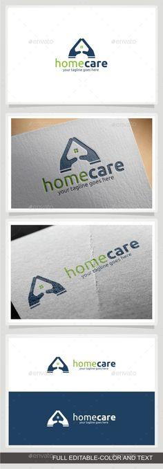 Home Care Logo by sosaenol 1. This logo design for home care and home family 2. Excellent logo,simple and unique. 3. Fully editable with .ai and .eps format.