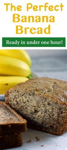 Banana bread is such a classic and delicious dessert! And we have the PERFECT recipe for you! This recipe will give you yummy, mouth-watering banana bread in under one hour!   ScrambledChefs.com