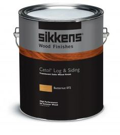 Sikkens cetol log siding color 348 450 dark - Woodsman premium exterior wood care ...