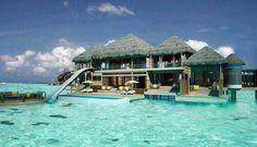 WATERSLIDE BEACH HOUSE IN MALDIVES