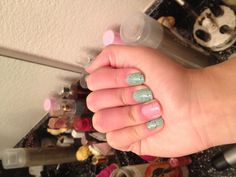 Mint chocolate chip and strawberry chocolate chunk nails