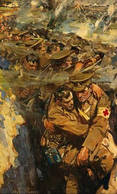 Cyrus Cuneo, The Red Cross in the Trenches, c1915-16