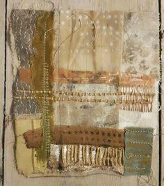 Julia Wright Jewellery: Patchwork and print Textile Fiber Art, Textile Artists, Textiles Sketchbook, Tea Bag Art, Creative Textiles, Fabric Journals, Fabric Manipulation, Texture Art, Fabric Art