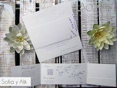 Invitaciones de boda campiranas en papel ecológico / wedding invitations / invitaciones lavanda