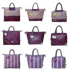 Violetista viehättyvä tykästyy varmasti Gabsin G3-sarjan Eline-laukkuun (ylärivi), Fioriin (keskellä) tai Righe-kassiin (alarivi)! Fashion, Moda, Fashion Styles, Fashion Illustrations