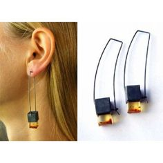 FREE Shipping, Amber earrings, Gift,  oxided Silver 925, NEW, UNIQUE- Handmade von JewellryWithSoul auf Etsy