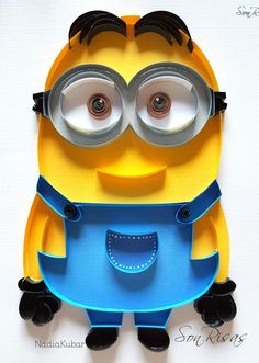 Minion! quilling paper