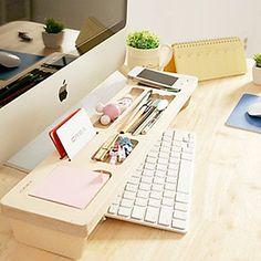 Multi-function Modern Wood Tabletop Storage Box