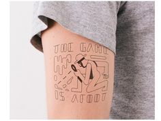 The Game Is Afoot Arm Tattoo