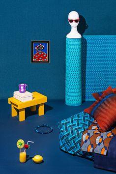 Keur, la boutique, 39 rue Jean Baptiste Pigalle 75009 Paris Photos : Cyrille Robin – Direction artistique : Paris Télex' #home #blue